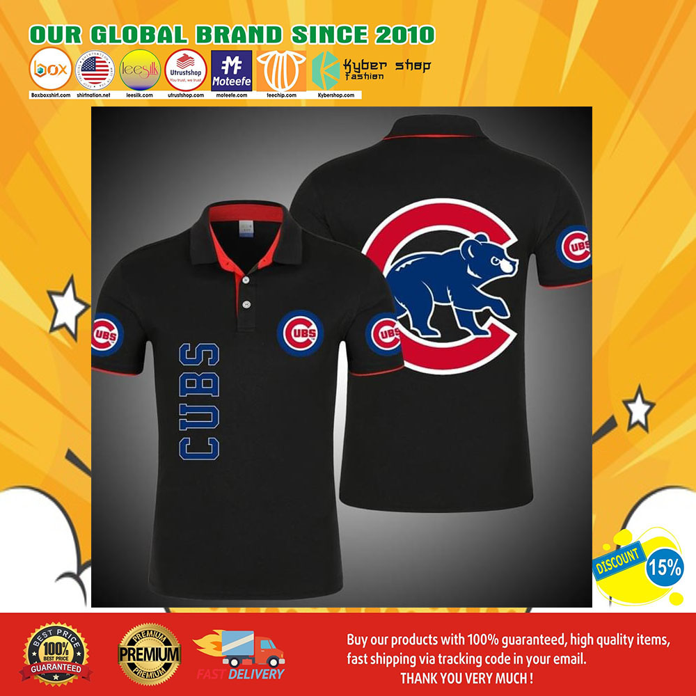 Chicago Cubs bears 3d polo shirt6