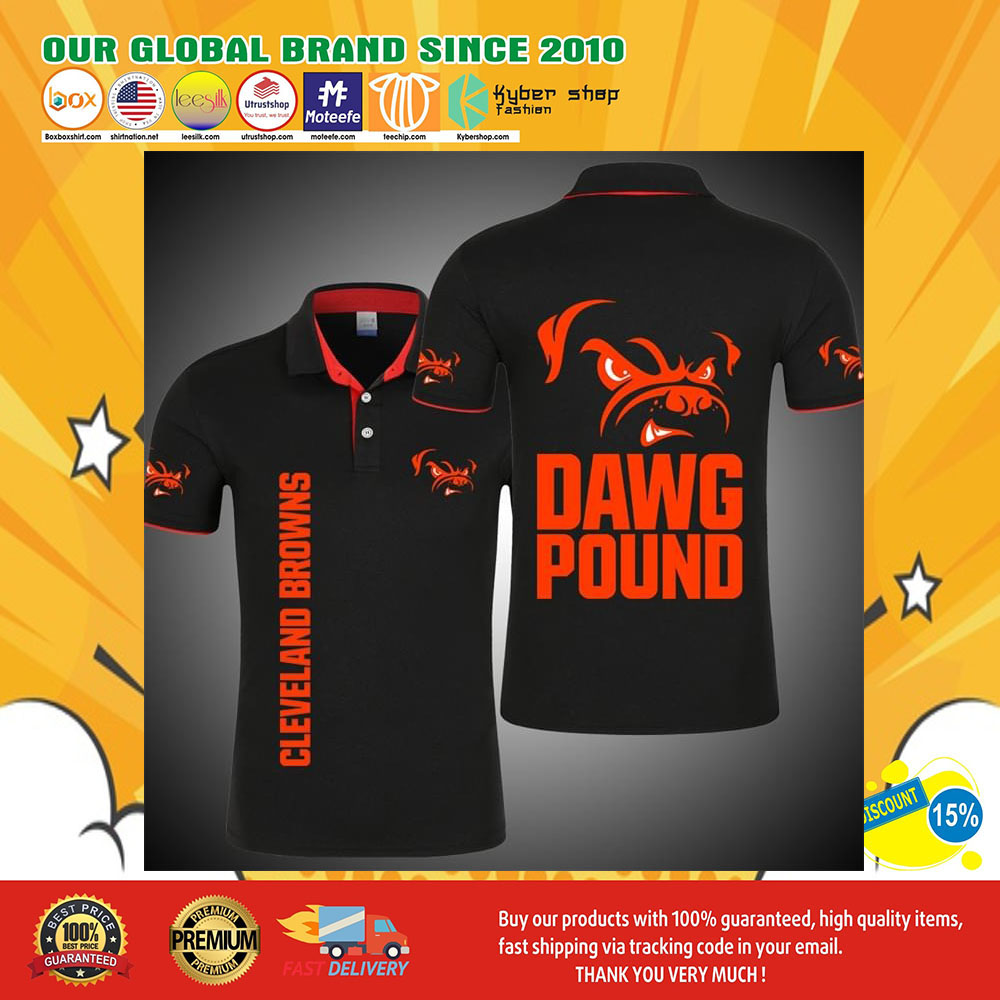Cleveland Browns Dawg Pound 3d polo shirt6