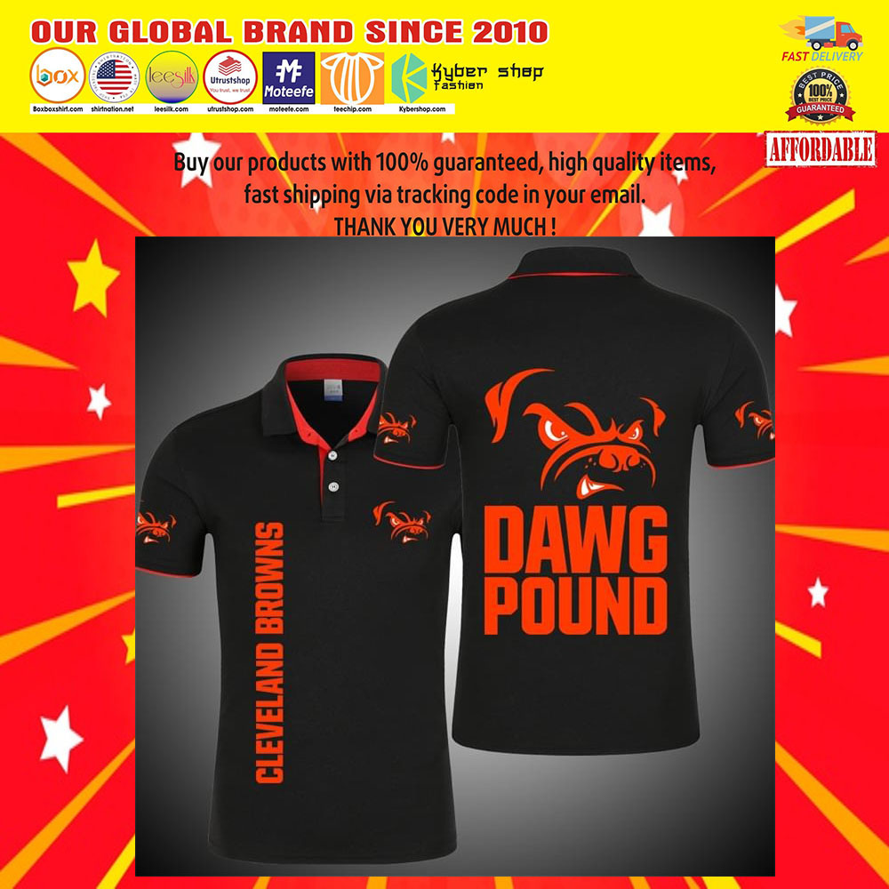 Cleveland Browns Dawg Pound 3d polo shirt7