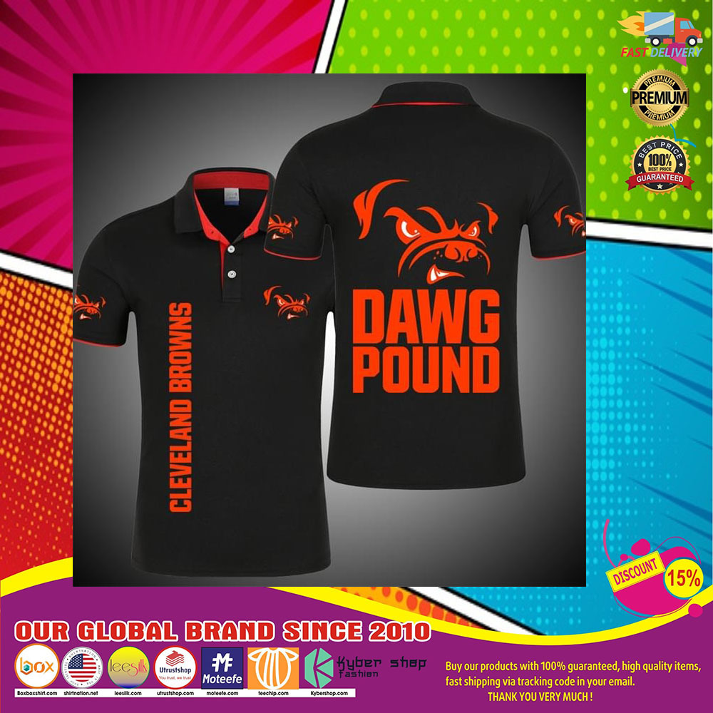 Cleveland Browns Dawg Pound 3d polo shirt8