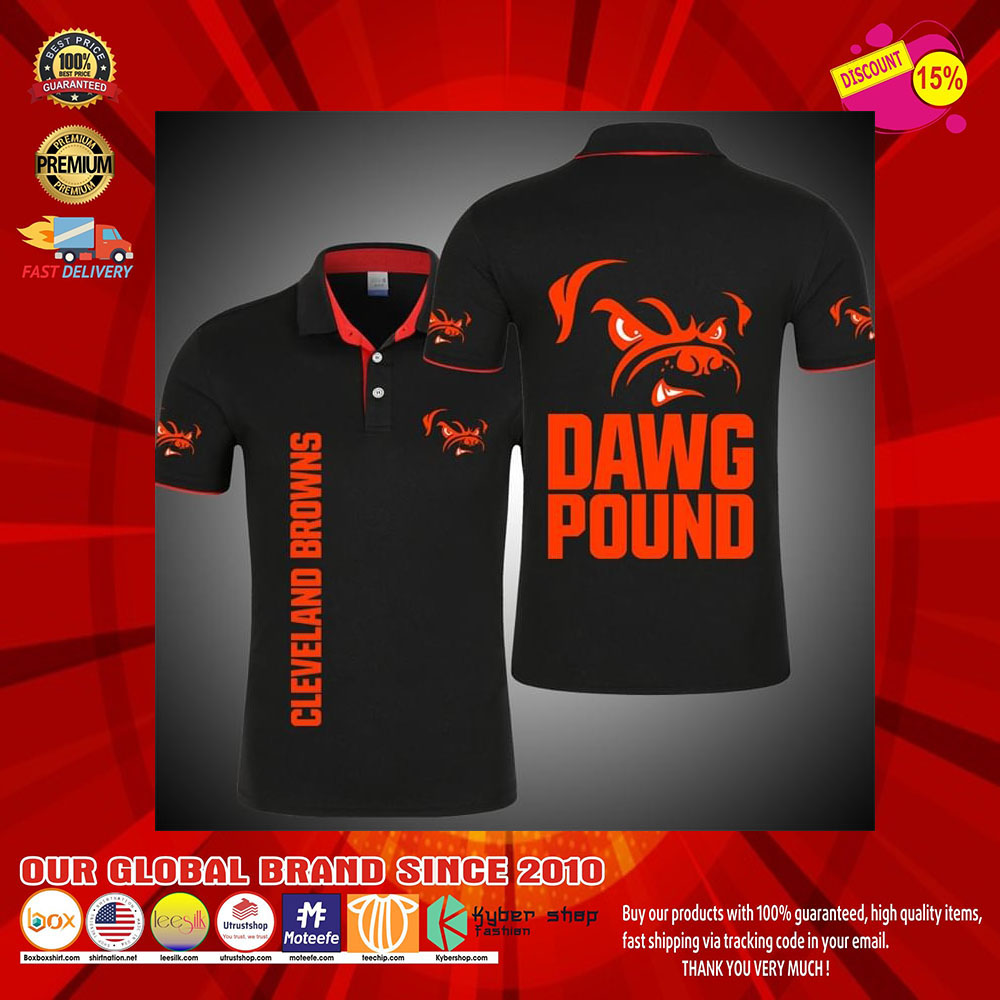 Cleveland Browns Dawg Pound 3d polo shirt9