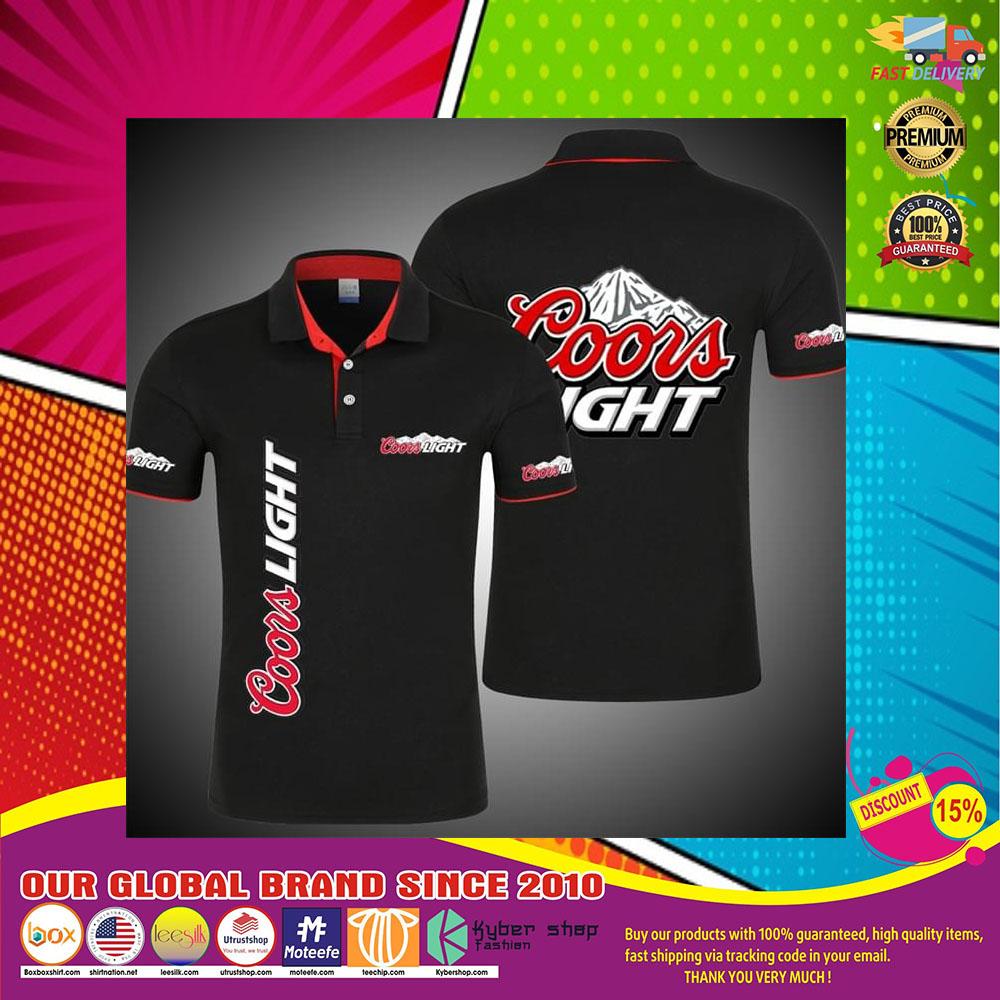 Coors Light Logo Beer 3d Polo Shirt6
