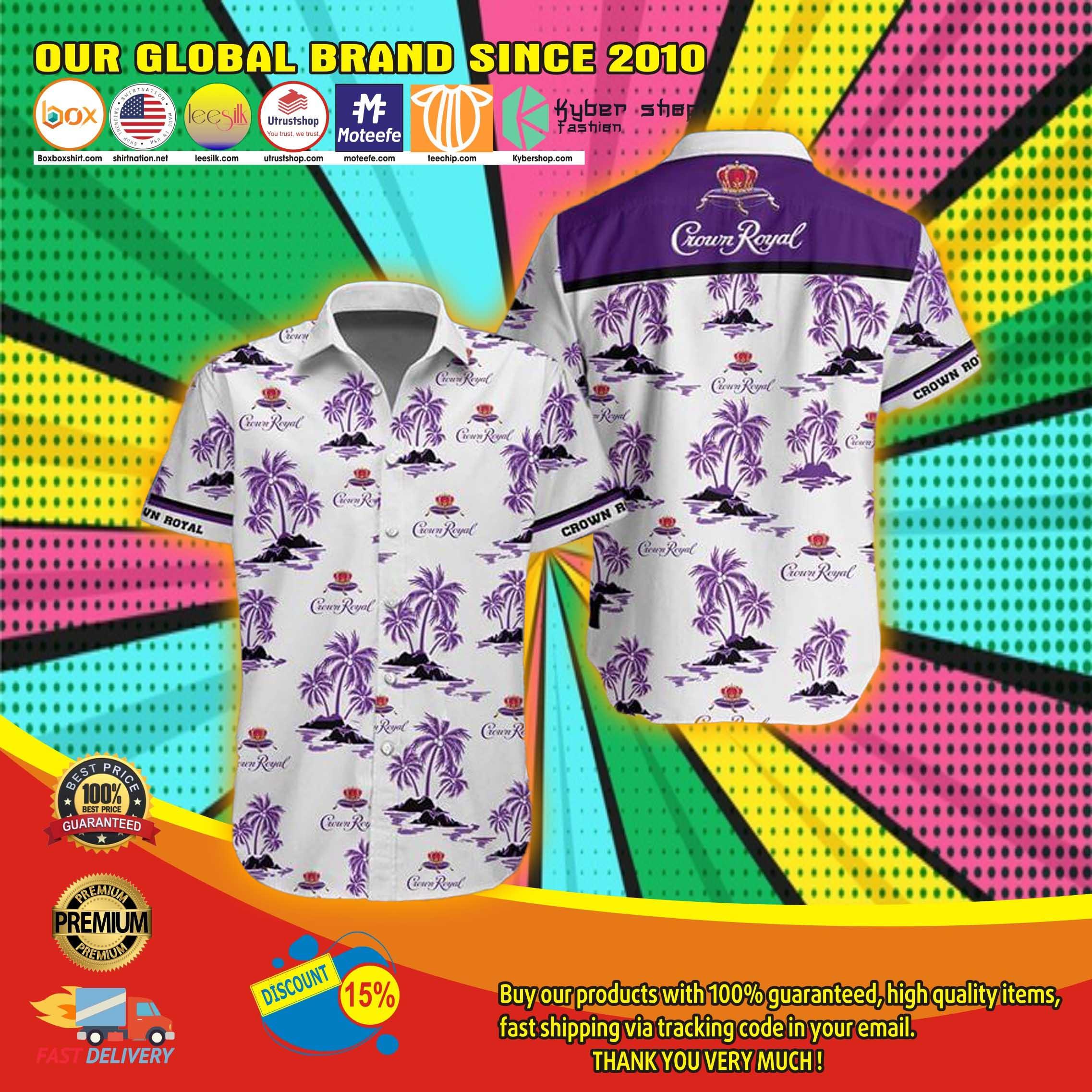 Crown royal hawaiian shirt 2