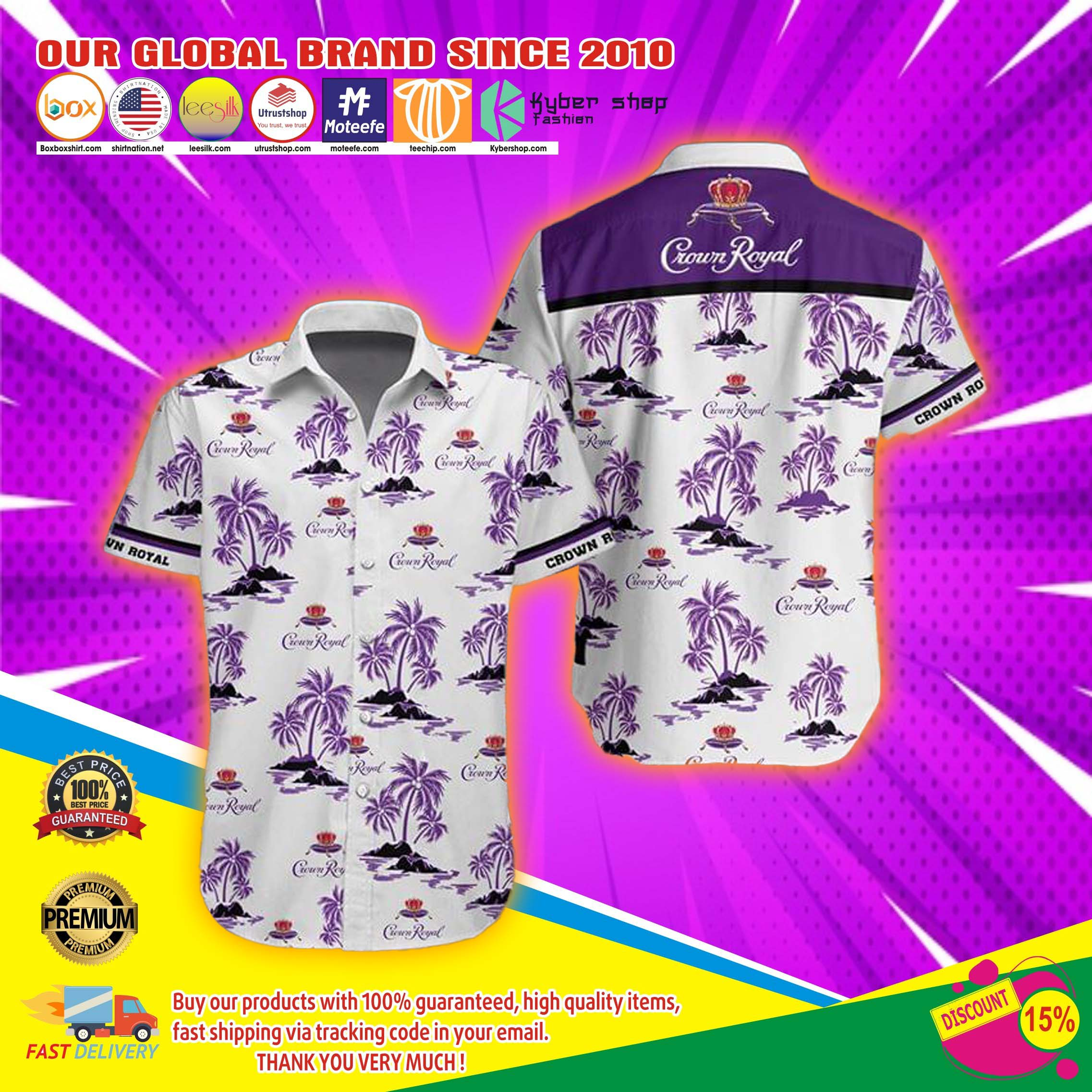 Crown royal hawaiian shirt 4