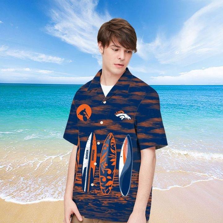 Denver Broncos Hawaiian shirt And Beach SHORT 5