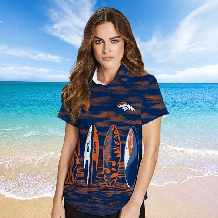 Denver Broncos Hawaiian shirt And Beach SHORT 16