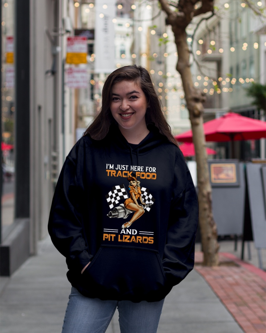 Dirt Track Girl I'm Just Here For Track Food And Pit Lizaros Shirt 19