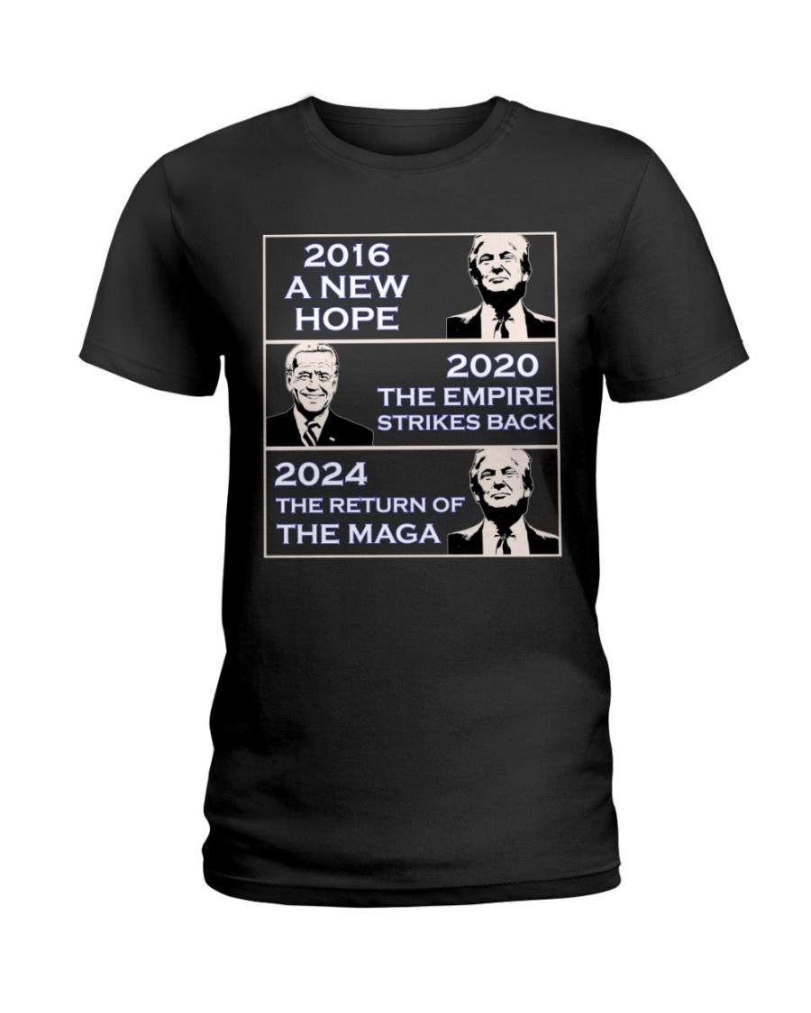 Donald Trump 2016 A New Hope Biden 2020 The Empire Strickes Back Donald Trump 2024 The Return Of The Maga Shirt 21