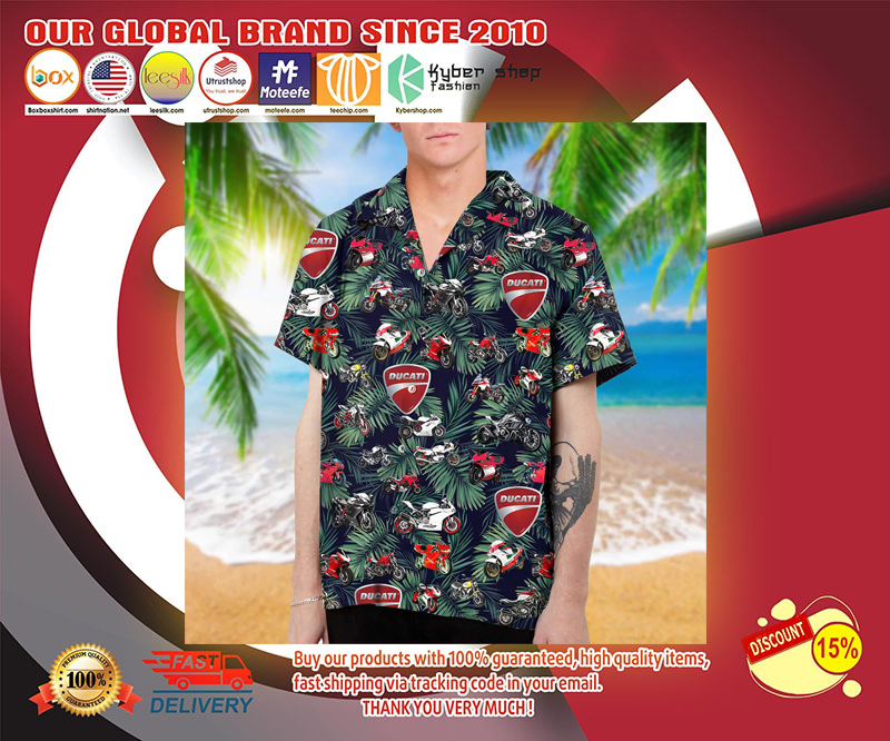 Ducati hawaiian shirt 2