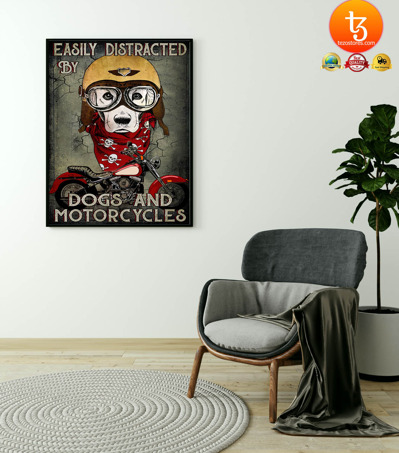 Easily distracted by dogs and motorcycles poster 4