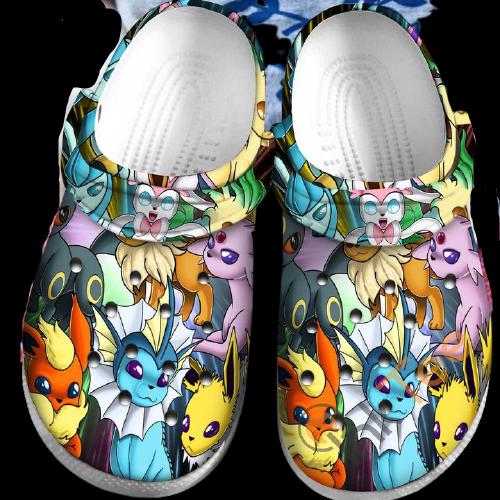 Eevee Collab Pokemon Sku30 Crocs Clog Shoes 16