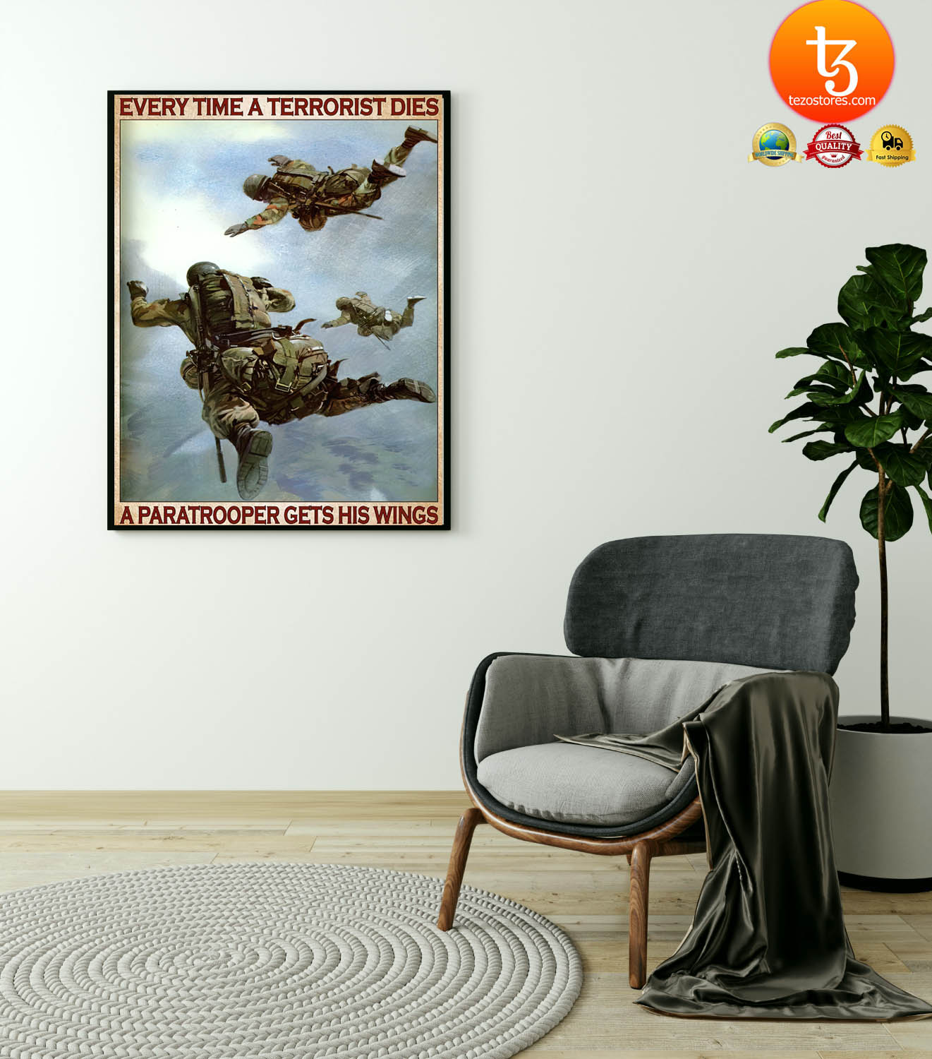 Every time a terrorist dies a paratrooper gets his wings poster 21