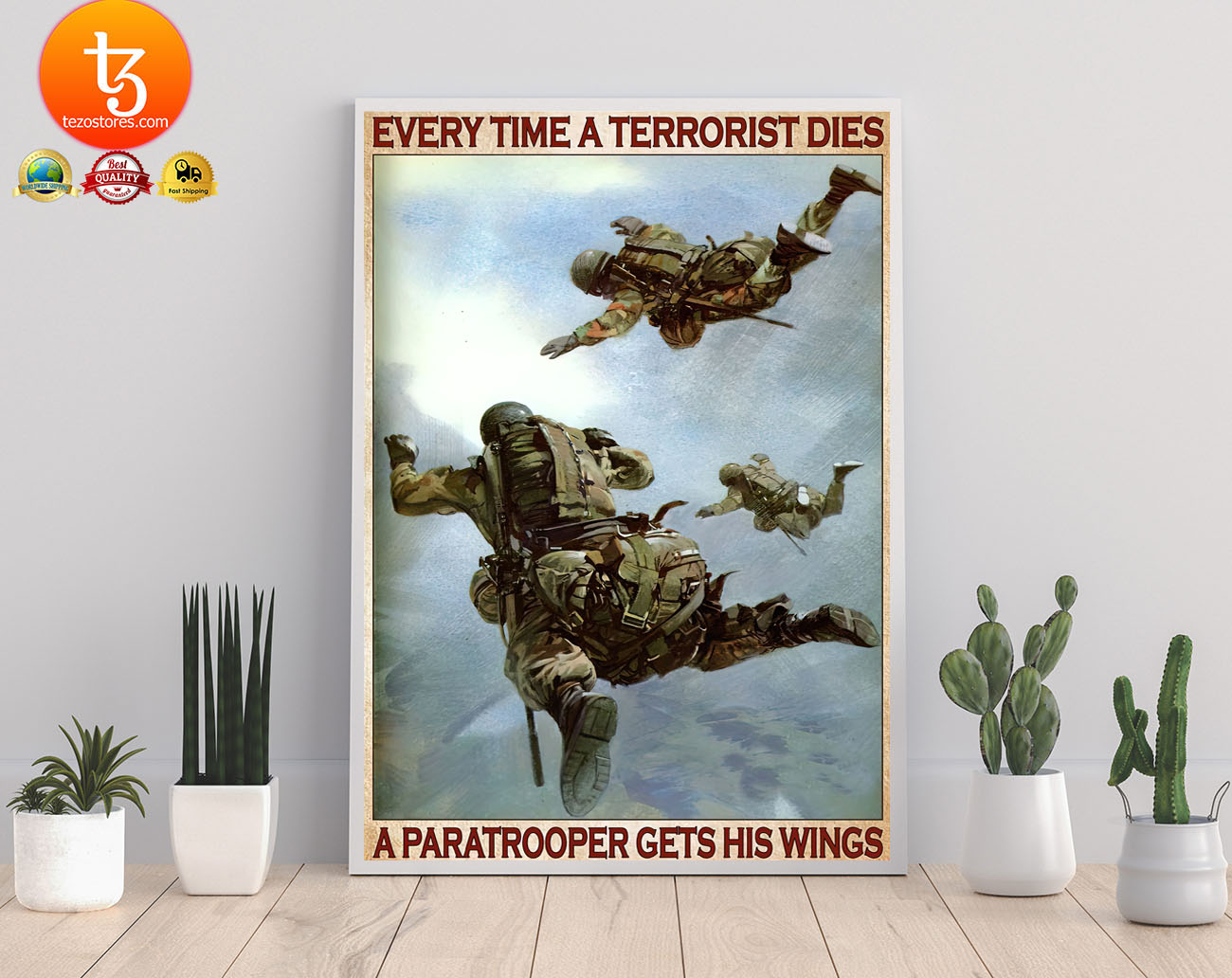 Every time a terrorist dies a paratrooper gets his wings poster 23