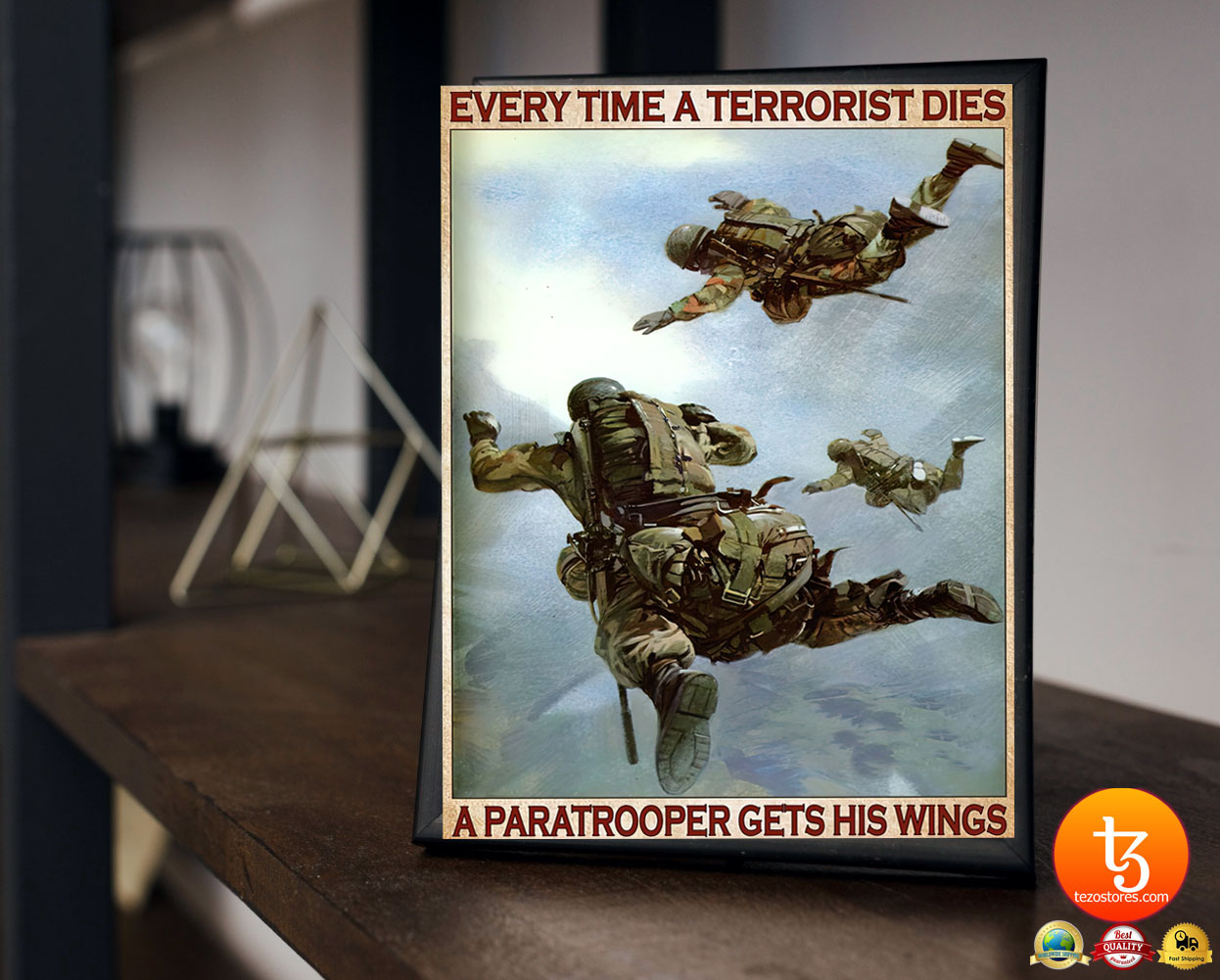 Every time a terrorist dies a paratrooper gets his wings poster 19