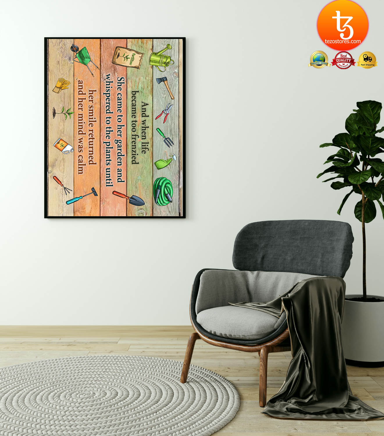 Garden And when life became too frenzied poster 21