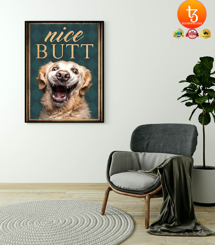 Golden retriever nice butt poster 23