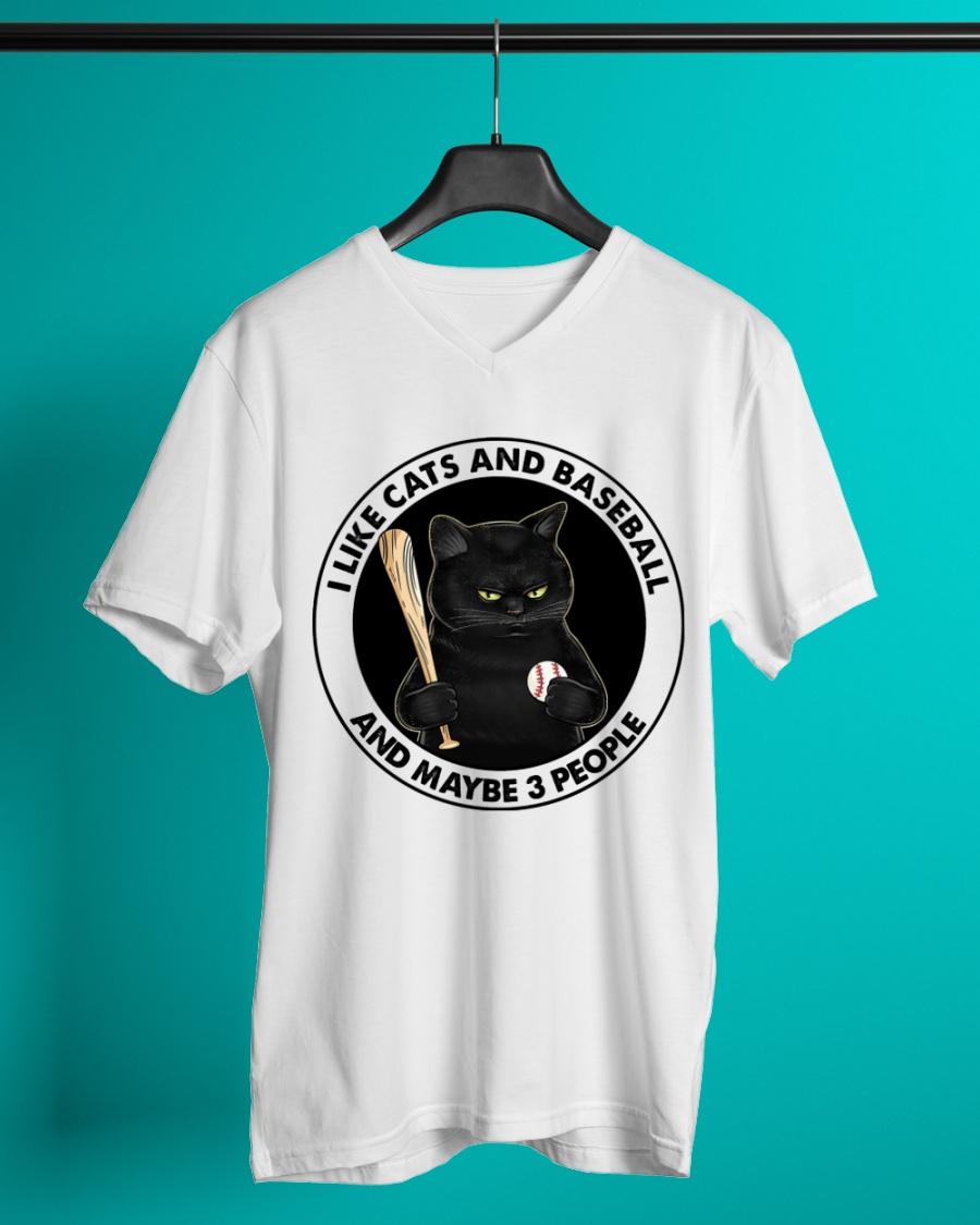 I Like Cats And Baseball And Maybe 3 People Shirt 25