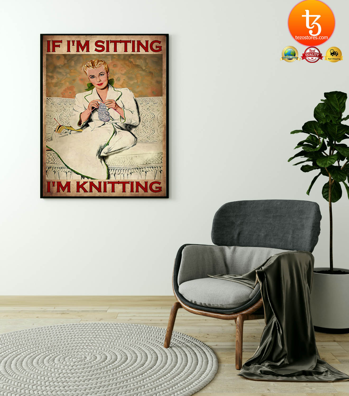 If i'm sitting i'm knitting poster 23