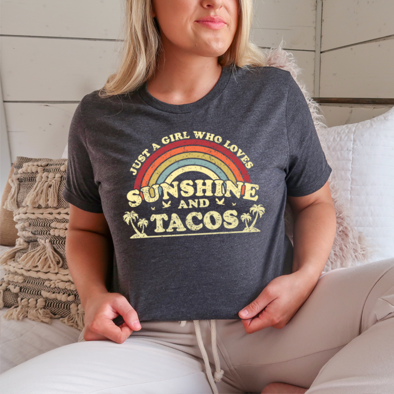 Just A Girl Who Loves Sunshine And Tacos Shirt 18