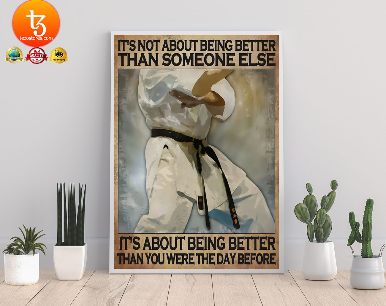 It's not about being better than someone else it's about being better than you were the day before poster 2