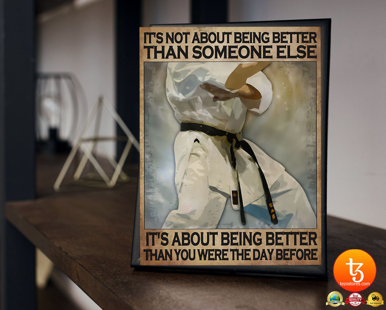 It's not about being better than someone else It's not about being better than you were the day before poster 2