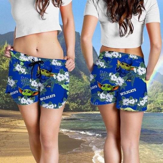 Kentucky Wildcats And Yoda Hawaiian And Beach Short 11