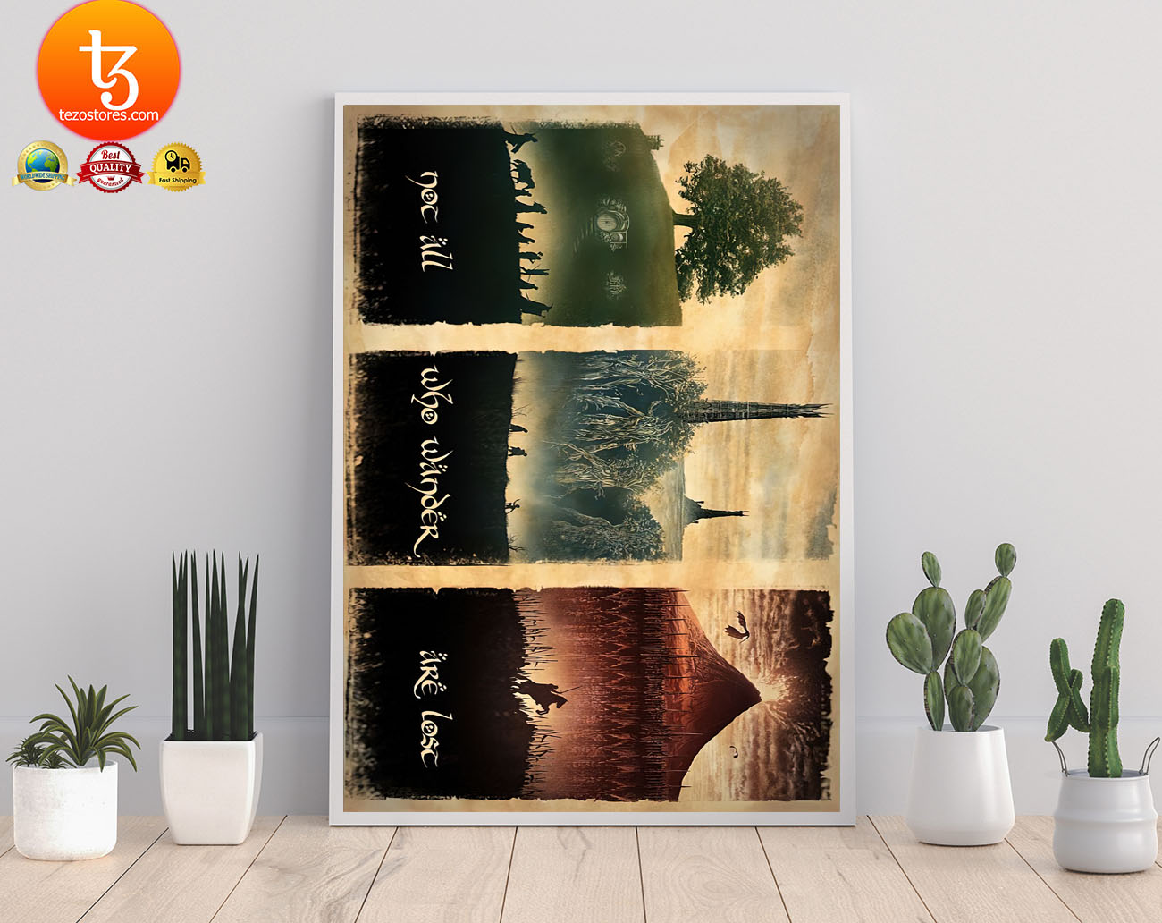 LOTR not all who wander are lost poster 21