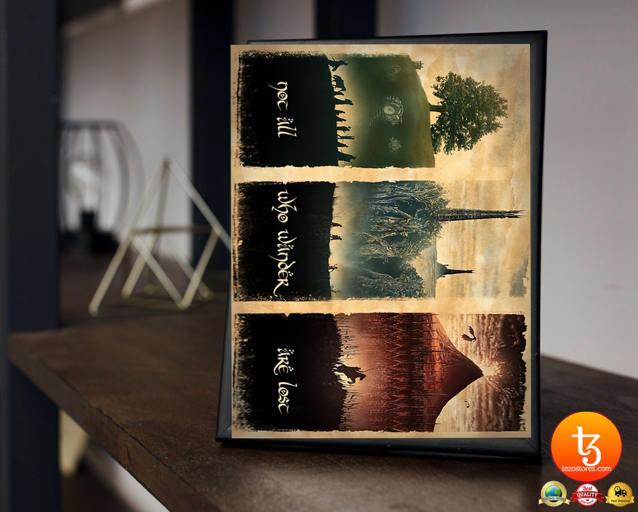 LOTR not all who wander are lost poster 19