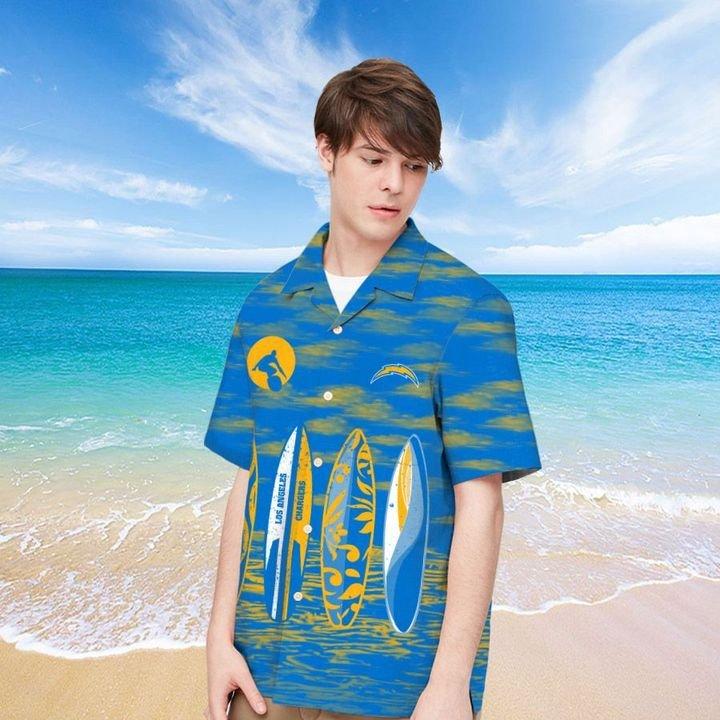 Los Angeles Chargers Hawaiian shirt And Beach SHORT 11