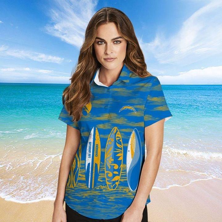 Los Angeles Chargers Hawaiian shirt And Beach SHORT 4