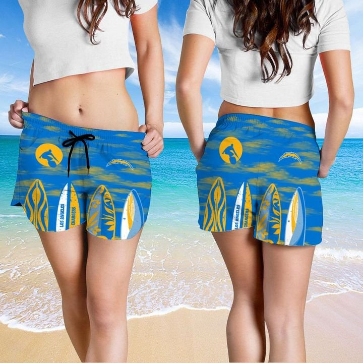 Los Angeles Chargers Hawaiian shirt And Beach SHORT 2