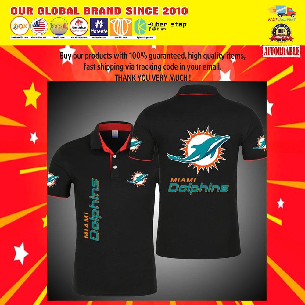 Miami Dolphins Logo 3d Polo Shirt5
