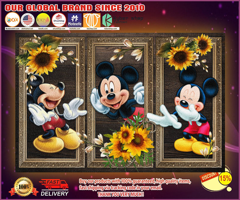 Mickey Mouse sunflower doormat 4