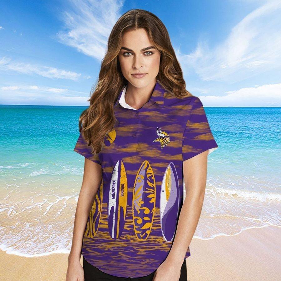 Minnesota Vikings Hawaiian shirt And Beach SHORT 5