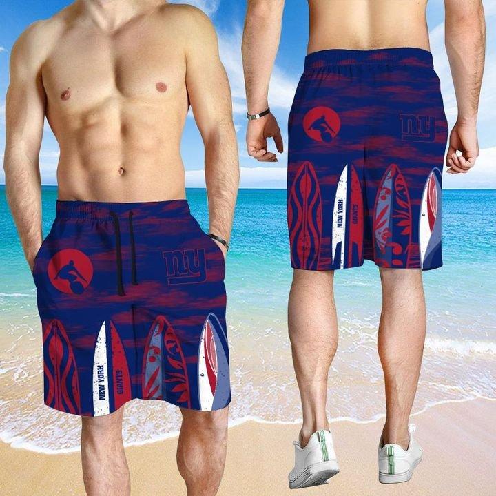 New York Giants Hawaiian shirt And Beach SHORT 2