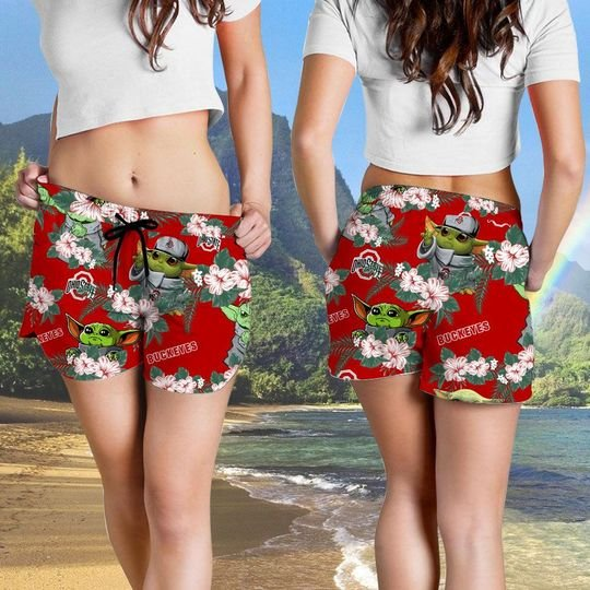 Ohio State Buckeyes And Yoda Hawaiian And Beach Short 1