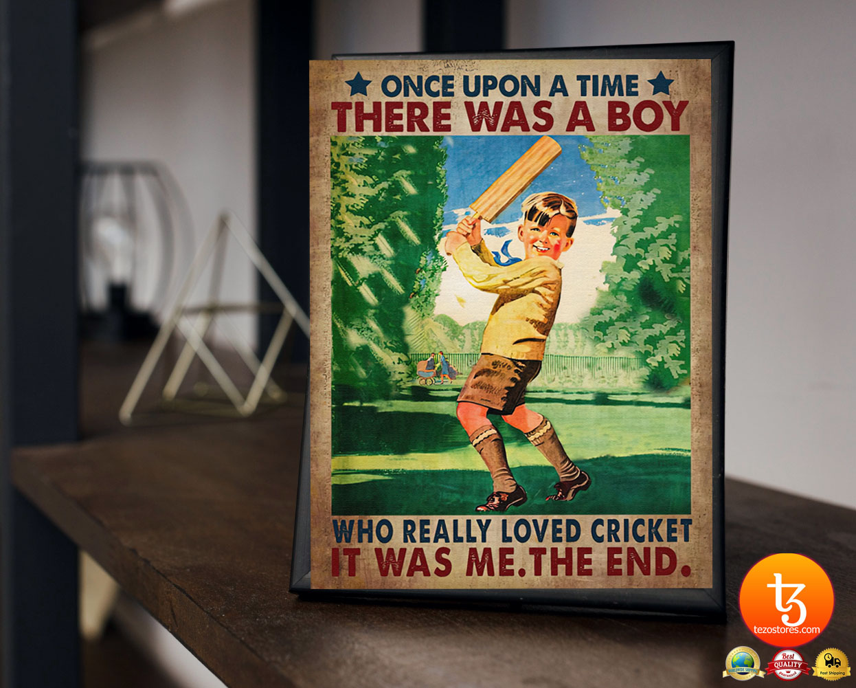Once upon a time there was a boy who really loved cricket poster 23 1