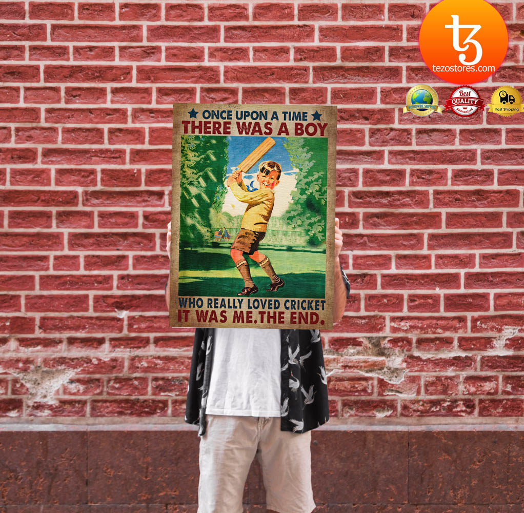 Once upon a time there was a boy who really loved cricket poster 24 1