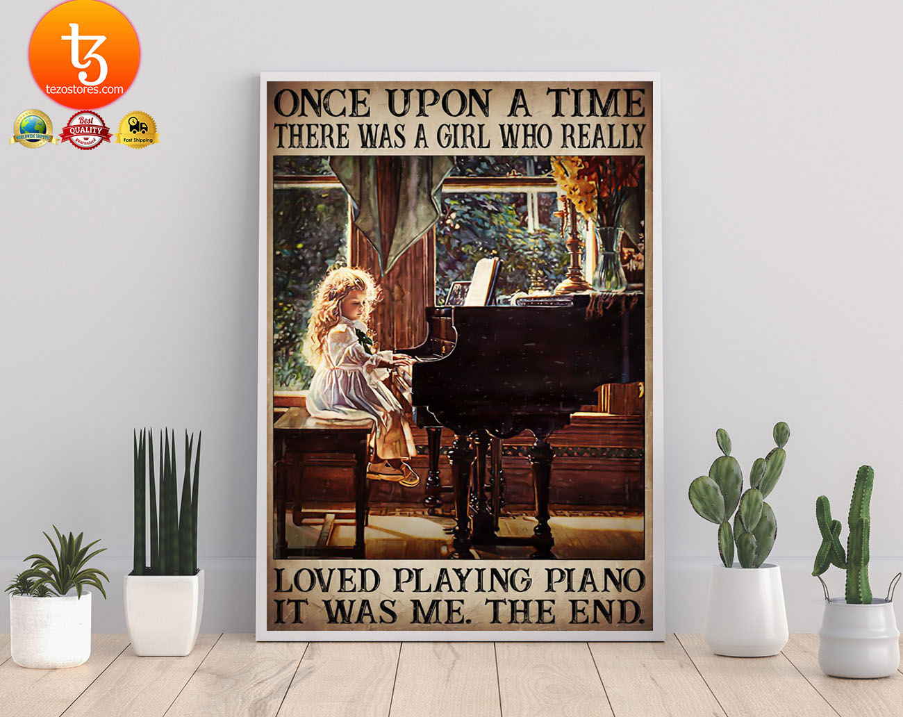Once upon a time there was a girl who really loved playing piano poster 22