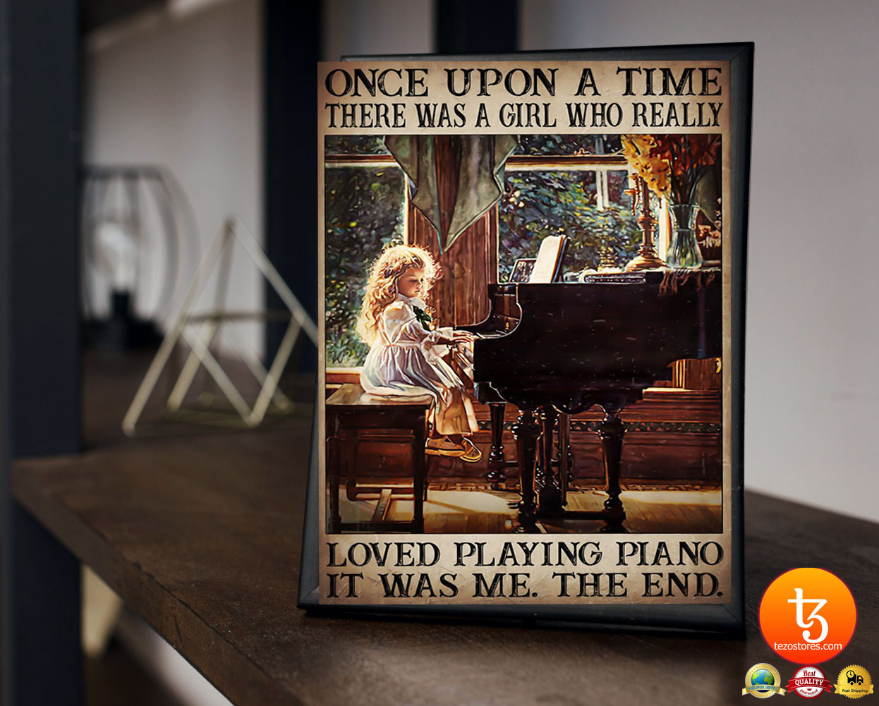 Once upon a time there was a girl who really loved playing piano poster 23