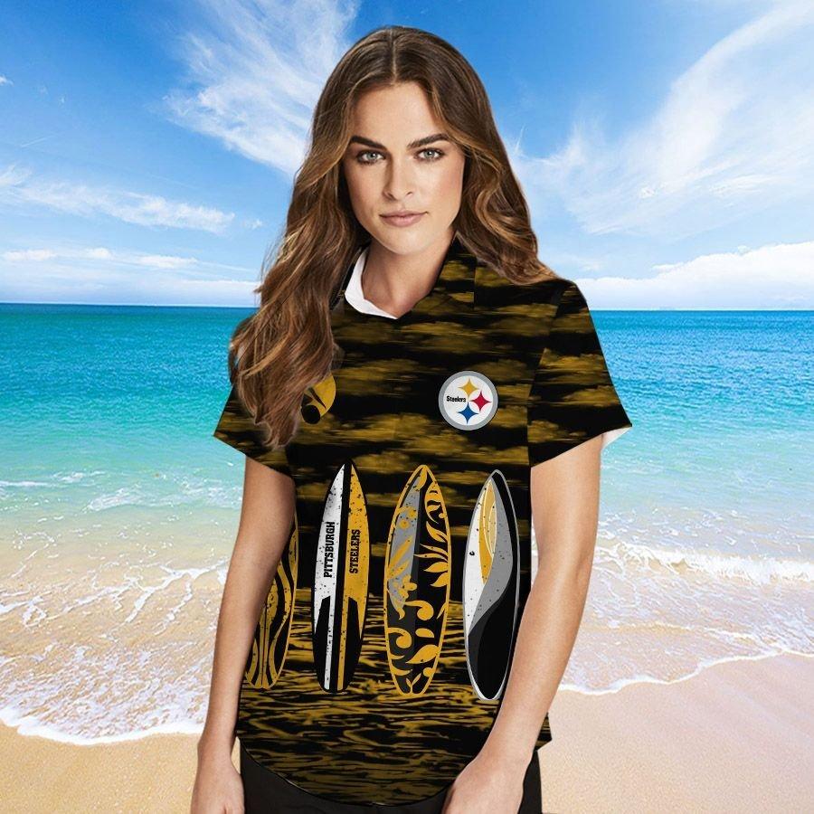 Pittsburgh Steelers Hawaiian shirt And Beach SHORT 4