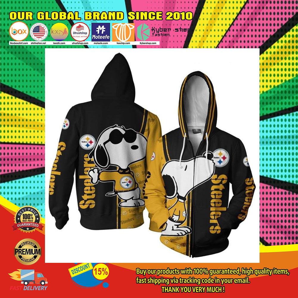 Pittsburgh Steelers Snoopy 3d Over Print Hoodie 2
