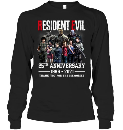 Resident evil 25th anniversary 1996 2021 thank you for the memories shirt 12