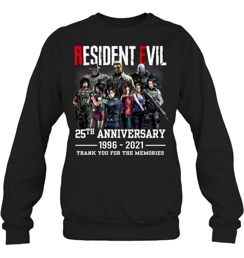 Resident evil 25th anniversary 1996 2021 thank you for the memories shirt 13