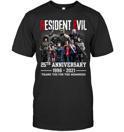 Resident evil 25th anniversary 1996 2021 thank you for the memories shirt as