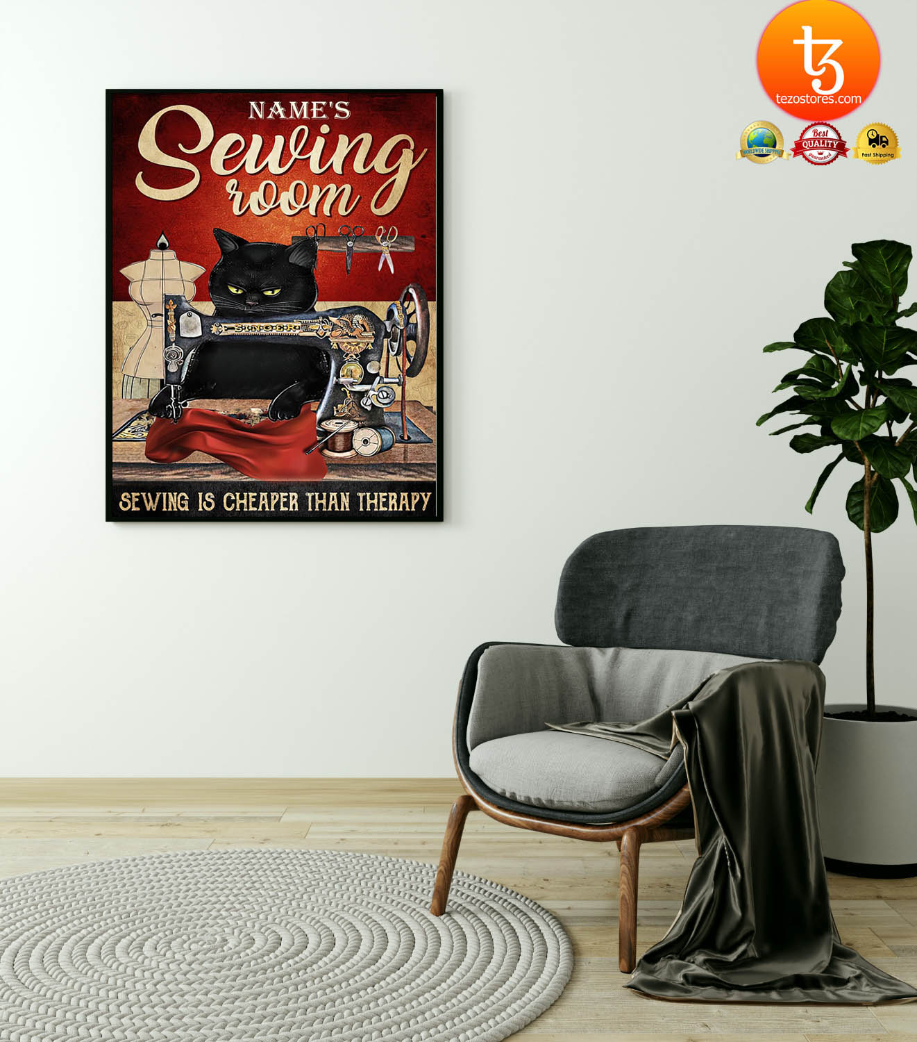 Sewing room sewing is cheaper than therapy poster 19