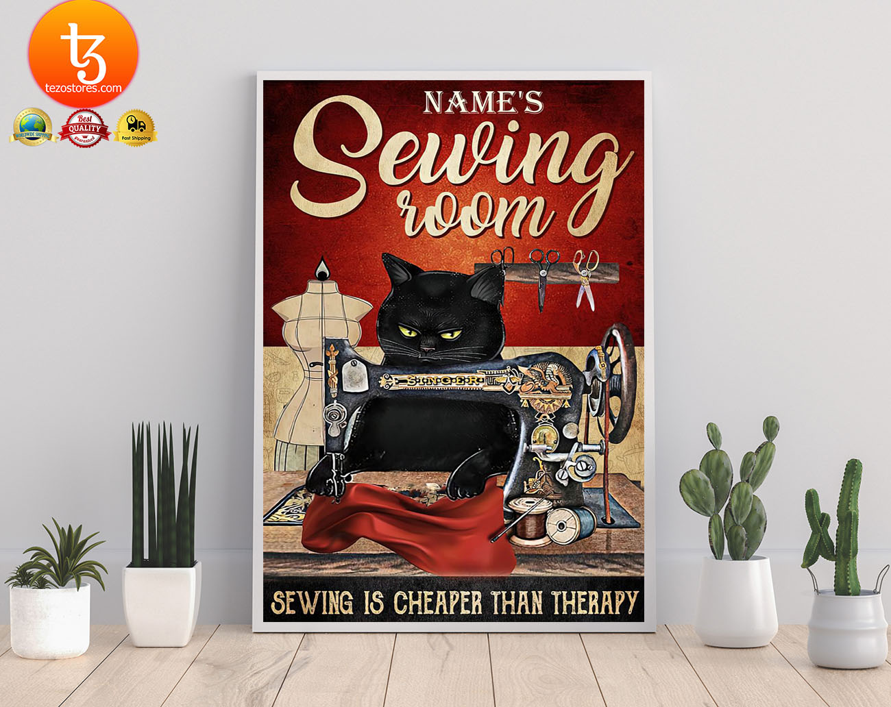 Sewing room sewing is cheaper than therapy poster 21