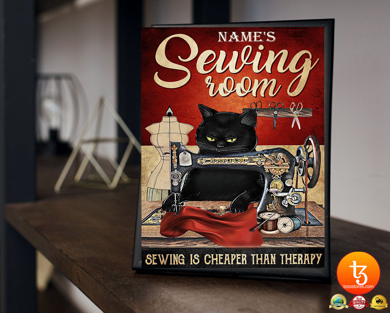 Sewing room sewing is cheaper than therapy poster 23