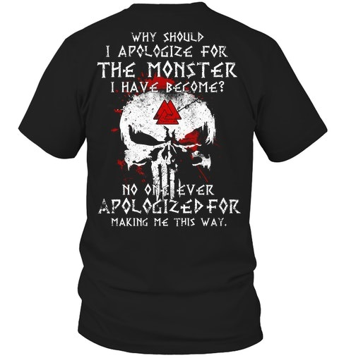 Skull Why Should I Apologize For The Monster Have Become Shirt 1