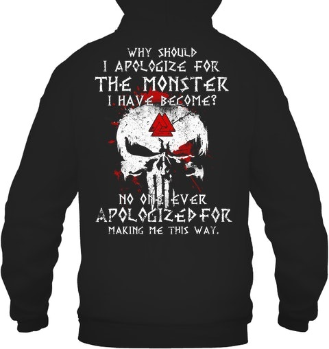 Skull Why Should I Apologize For The Monster Have Become Shirt 2